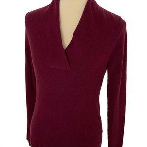 NWT Banana Republic Wool Cashmere V-Neck Sweater